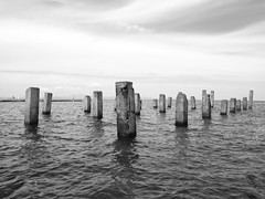 (SUH Photograph) Tags: sea water monochrome zamboanga zamboangacity