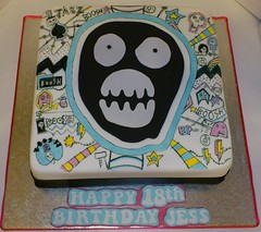 The Mighty Boosh Themed 18th Bithday Cake (LizzieQ Creations) Tags: cake 18th themed mighty bithday boosh the