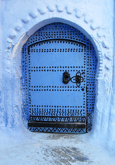 Chefchaouen (Sallyrango) Tags: door blue northafrica arabic morocco maroc medina chaouen chefchaouen