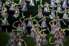 Mass Games, North Korea (Stefan Schinning) Tags: girls nikon day dancers stadium north may games korea event mass pyongyang dprk arirang d90 rungrado