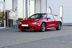 Red Eclipse (v6rev) Tags: auto red rot car eclipse automobile automotive 1999 turbo 99 ii mk2 20 rood rosso gst mitsubishi i4 mkii 2g gen2 automobil machina kfz