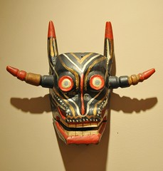 Devil Diablo Mascara Mask Mexico (Teyacapan) Tags: wood madera crafts mexican masks devil diablo purepecha mexicanas mascaras michoacn acachuen