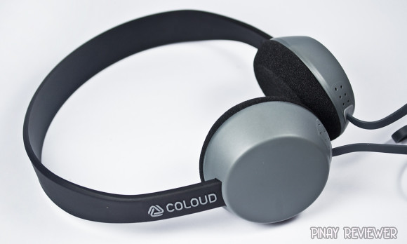 Coloud Knock headphones with rigid, stiff headband