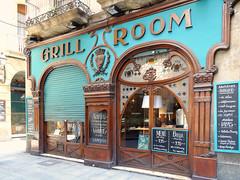 Barcelona Grill Room (Atelier Teee) Tags: barcelona freeassociation restaurant tapas storefront catalunya modernisme menuboard grillroom atelierteee terencefaircloth