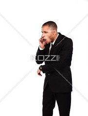 angry businessman shouting on cellphone (peopleabba2012) Tags: businessman photography corporate portable technology phone cellphone tie anger professional communication business suit indoors whitebackground listening arguing mobilephone africanamerican worker studioshot wirelesstechnology talking youngadult problems adultsonly oneperson furious shouting onthephone mouthopen occupation expertise facialexpression colorimage oneyoungmanonly onemanonly threequarterlength professionaloccupation usingvoice 2024years welldressedholding