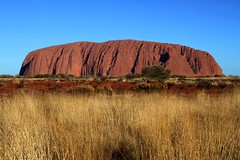 Ayers Rock (photographerglen) Tags: sunset red nature sunrise canon landscape outdoors big desert nt australian australia landmark icon aborigine outback uluru therock aboriginal popular territory northernterritory ayersrock redcentre outbackaustralia australiandesert middleofaustralia