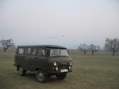 Russian van in Mongolia (mbphillips) Tags: nomad モンゴル 몽골 蒙古 asia アジア 아시아 亚洲 亞洲 mbphillips canonixus400 geotagged photojournalism photojournalist mongolia 몽골리아 mongolie