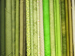 Yards of green fabric