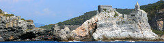 Panorama Point (rgb48) Tags: ocean travel italy stpeters church europe chiesa stitched liguriansea fivelands
