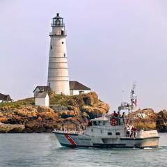 Boston Light (Timothy Valentine) Tags: lighthouse square boat large bostonma 0812 bostonharborislands bostonlight afsdxvrzoomnikkor18200mmf3556gifed clichésaturday