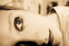 153:365 - Eye of the Storm (KatGatti) Tags: music woman selfportrait storm eye girl canon blueeyes sandy hurricane inspired 365 lookingout needtobreath katgatti