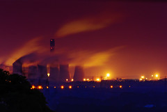Burning the midnight...coal (Mister Electron) Tags: energy yorkshire steam electricity emissions powerstation globalwarming drax co2 coolingtowers greenhouseeffect energyproduction coalfired greenhousegasses nikond700 nikontc301teleconverter nikkor500mmf4edifp