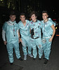X Factor finalists Jaymi Hensley, Josh Cuthbert, George Shelley and Jamie Hamblett aka JJ on Union J Leaving Mahiki club after celebrating Rylan Clark's birthday.