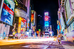 Times Square at 2:30am (xtremepsionic) Tags: city newyorkcity longexposure nightphotography busy timessquare hdr lighttrail manhattanisland