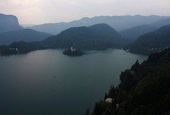 Bled island in the mist (Sokleine) Tags: mist lake europe eu slovenia bled brume slovnie lakebled julianalps bledisland