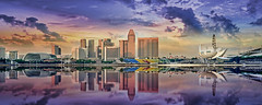 The Surreal Singapore... (williamcho) Tags: panorama reflection singapore cityscape ngc surreal property gateway hotels aasia 2012 nationalgeographic sunteccity mandarinoriental marinabay shawhouse theesplanade theatresonthebay helixbridge singaporeflyer flickraward meritius flickrestrellas nikonflickraward d5100 topazlabadjust artsciencemuseum marinabayhotels williamcho primedistrict
