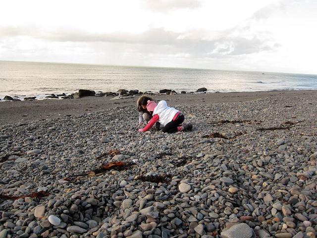 Pebble beach at Nant Gwrtheyrn