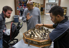 010/365 - thursday mid-day middlegame (Robert Couse-Baker) Tags: men chess 365 project365 travisafb 2013inphotos