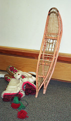 Gwich'in snowshoes and mukluks (lmainjohnson7) Tags: canada embroidery northwestterritories snowshoes nativeart mukluks traditionalcrafts mackenziedelta duffels gwichin