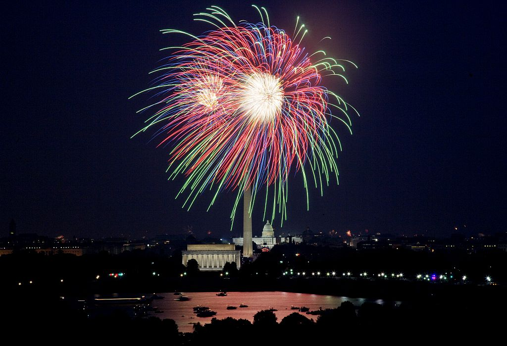 July 4th fireworks, Washington, D.C.  (LOC)