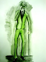 The Riddler (markwilson85) Tags: green art dark painting comic bob edward question batman knight kane riddle the theriddler nygma
