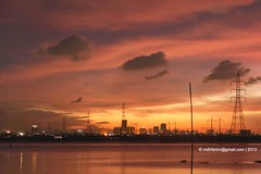 Other Side of Dhaka City (Daude Helal Fahim) Tags: city sunset sky cloud water pool silhouette electric buildings river twilight dusk dhaka dramaticsky bangladesh mdhfahim