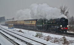 35028 'Clanline' - 1Z83 - Purley Oaks (Matthew Price Photography.) Tags: england snow navy railway loco steam southern pullman locomotive express railtour orient oaks railways sr merchant steamtrain purley merchantnavy purleyoaks vsoe 35028 clanline