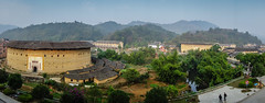 Tulou  (gerd benninger) Tags: china travel panorama architecture zeiss landscape sony  fujian hakka earthbuilding tulou carlzeiss    rx100 sonyrx100