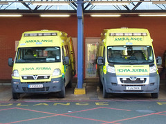 YX159EXG and FJ12NVN (Emergency_Vehicles) Tags: leicester royal ambulance service emergency infirmary midlands ambulances lri 4512 nvn exg yx59 yj12 yx59exg yj12nvn