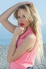 203 (PROFIX06) Tags: portrait horse sun france sexy girl beautiful studio see nice model pretty riviera femme leg bleu blonde mode fille bardot