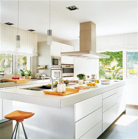 Cocinas modernas blancas belleza y simpleza en tu hogar - Cocinas en blanco ...