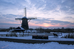 Snow-capped windmill at Kinderdijk - Thank you, thank you Doggy-doo....Featured on Explore (Thank you so much, what a wonderful reward for my efforts!) (Wilma v H - thanks for lovely feedback and faves!!) Tags: winter sunset snow holland dogs thenetherlands windmills bluehour kinderdijk windmolens winterscenics albasserwaard snowscenics albasserdam