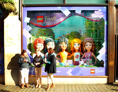 friends (buckaroo kid) Tags: uk girls friends london window shop lego display toyshop regentst hamleys texting londonist