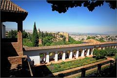 Jardins du Generalife, Alhambra, Granada, Andalucia, Espana (claude lina) Tags: claudelina espana spain espagne andalucia andalousie granada grenade ville town alhambra jardins garden landscape paysage