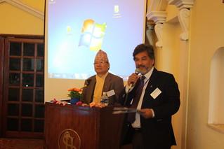 Drs. Sharad Onta and Kedar Baral present by