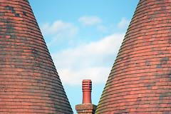 Chimney between 2 oast houses, Lullingstone, UK (John A Briody) Tags: nikon d750 brick chimney oasthouse lullingstone