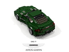 Aston Martin One-77 Coupe (lego911) Tags: aston martin one77 coupe v12 2009 2000s auto car moc model miniland lego lego911 ldd render cad povray uk england britain british lugnuts challenge 106 exclusiveedition exclusive limited special edition