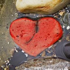 broken heart (Hal Halli) Tags: nature rock heart sea stone love romance