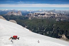 Marmolada glacier and the Dolomites (Matt-of-Florence) Tags: dolomiti marmolada sassolungo grupposella dolomites canoneos6d canon1635f4 mountains italy ghiacciaio glacier trentino
