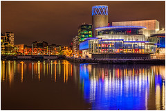Salford Quays (thenikonkid) Tags: hdr mediacity night salfordquays twilight dusk thelowry