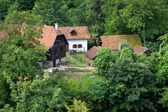 Village idyll (Dino Barsic) Tags: village countryside idyll rastoke forest day outdoor nature house old green architecture building canon600d europe croatia hidden landscape view