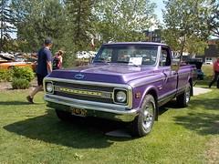 1969 Chevrolet Custom 20 (blondygirl) Tags: stalbert showshine stalbertcruisers auto car sturgeonrivervalley lionspark rocknaugust august6 20thanniversary sa 1969 chevrolet purple truck chevroletcustom20 c20 custom20