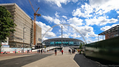 The Golden Arch (James Hodgson Photography) Tags: building stadium wembley london 16mm olympic 1635 way wide street arch view football