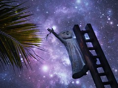 Up with the stars<>Vers les toiles. (France-) Tags: 141 mexico texture chelle ladder sculpture malecon puertovallarta stars toiles up