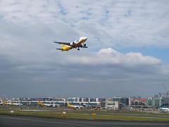Manila International Airport (stardex) Tags: philippines manila airport cebupacific airbus a320 aircraft plane cloud sky aeroplane flight