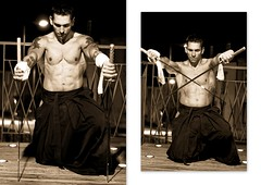 ronin modern (Dioudz San) Tags: samourai sabre akama portrait homme tatouage nuit