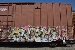 DSC_3553 (huntingtherare) Tags: freight train graffiti erupto 327 d30 a2m