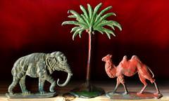 Spielzeugfiguren aus schwerem Metall (altpapiersammler) Tags: old alt vintage spielzeug toy blei lead elephant lphant elefante  so zabawka brinquedo  giocattolo juguete jouet kindheit childhood bemalt