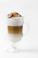 Latte with chocolate (mouse_adikatz) Tags: coffee chocolate food drink latte cup frothy cafe brown whipped white cream milk temperature glass mug espresso cappuccino heat mocha caffeine drinking material hot isolated sweet macchiato people refreshment background drinks no studio milkshake syrup freshness cold porcelain table preparation dessert map liquid ireland view snack indulgence break