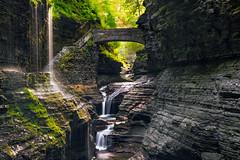 Rainbow Bridge and Falls (Firoz Ansari) Tags: watkins watkinsglen falls longexposure newyork ny rocks glencreek waterfall fingerlakes